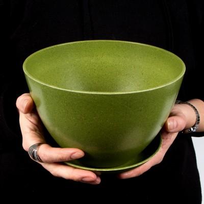Pot et soucoupe biodégradable 7 pouces