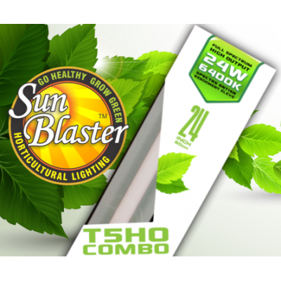 Growing lighting SunBlaster T5HO combo with reflector - 24 in - 6400K