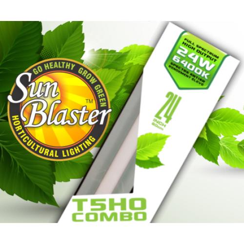 Combo néon horticole et réflecteur 24 po - 6400K - SunBlaster T5HO
