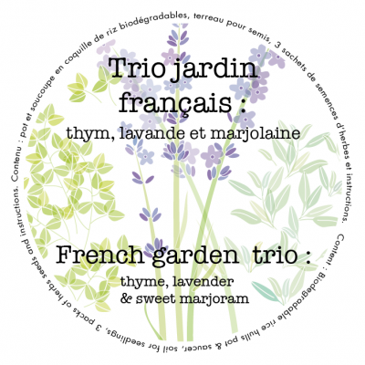 French garden trio